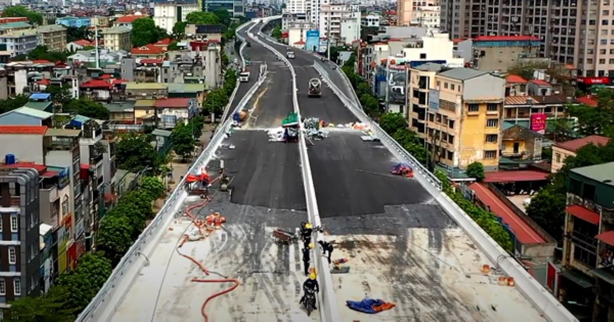 Hà Nội: Toàn cảnh tuyến đường trên cao gần 9.500 tỷ sau 2 năm thi công