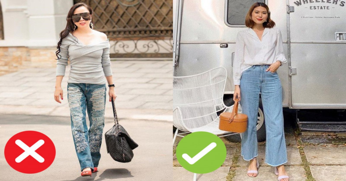 Diện quần jeans cần tránh 4 sai lầm