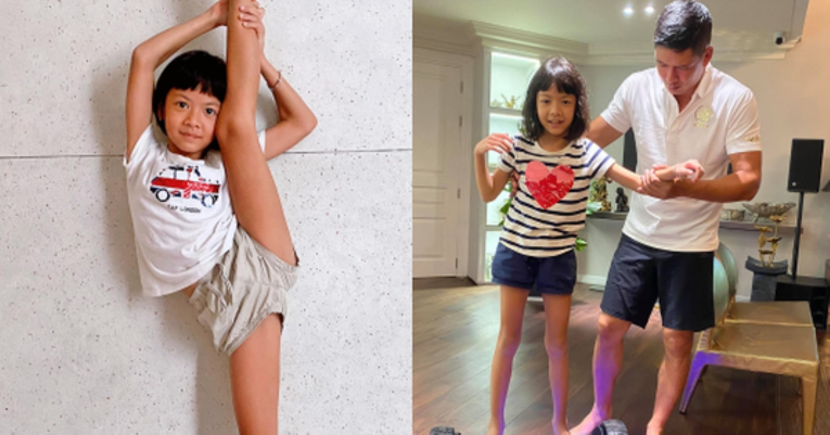 Bà xã Bình Minh khoe ảnh con gái út mới 8 tuổi mà chân dài miên man, ai cũng xúm vào hỏi xin bí quyết nuôi con