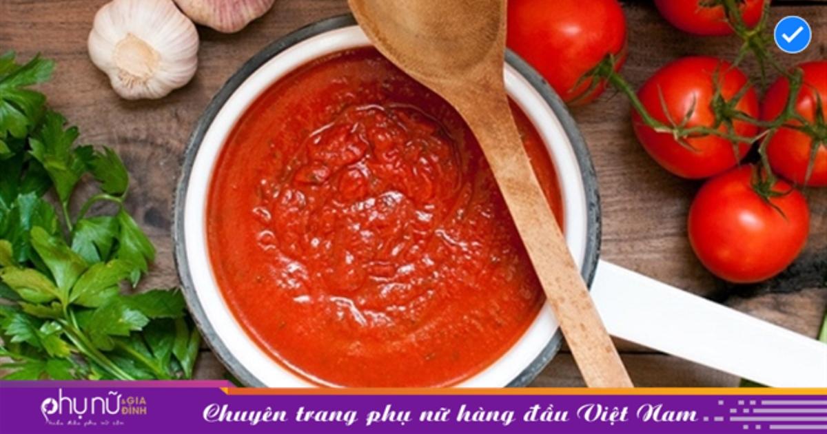 Cách làm sốt cà chua sánh mịn, đẹp mắt thơm ngon khó cưỡng