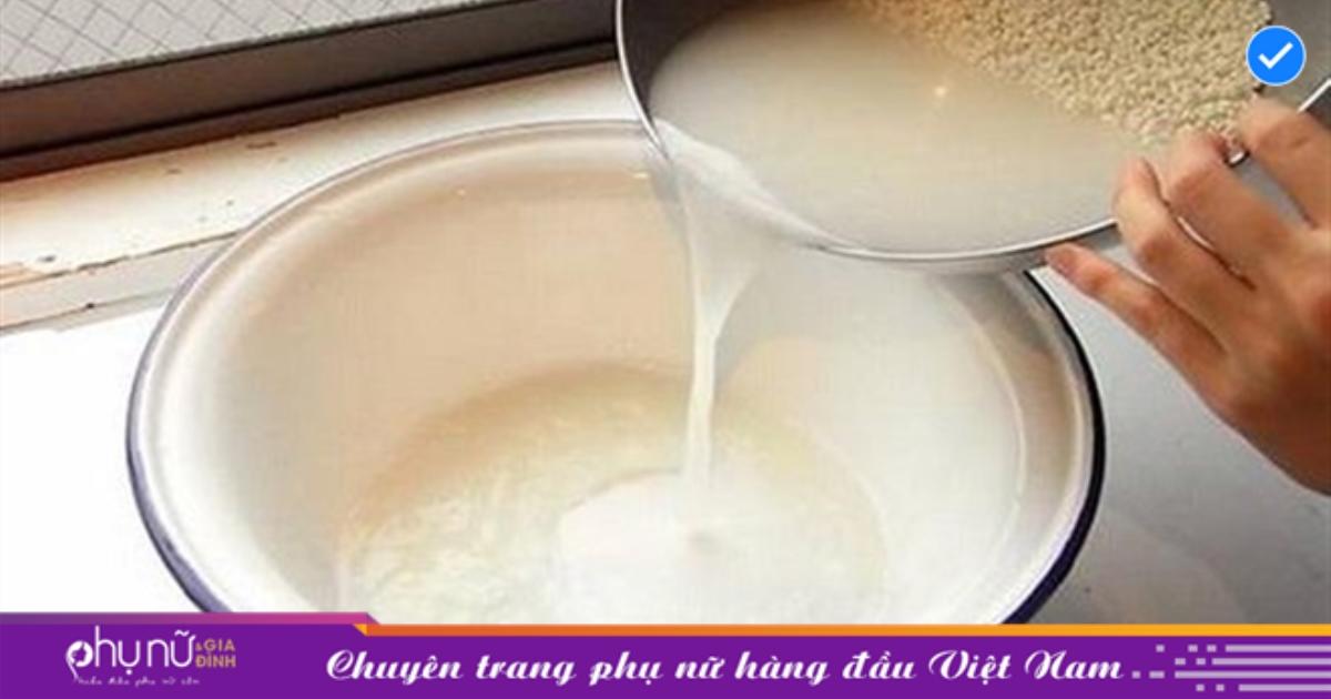 Cách làm trắng da, chống lão hóa đơn giản từ nước vo gạo