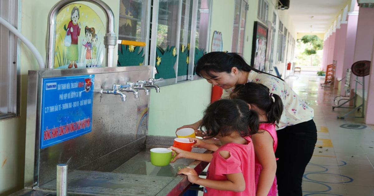 5 công trình lọc nước do bạn đọc Thanh Niên tài trợ tại Long An