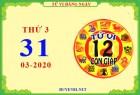 Xem tử vi ngày 31/3/2020 thứ 3 của 12 con giáp chi tiết nhất