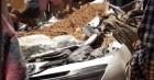 Tai nạn giao thông tại Thanh Hóa mới nhất hôm nay: Xe ben lật đè bẹp ô tô chở 4 người, 3 người tử vong