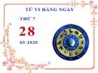 Xem tử vi ngày 28/3/2020 thứ 7 của 12 cung hoàng đạo chi tiết nhất