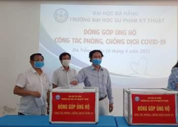 Trường Đại học Sư phạm Kỹ thuật (ĐH Đà Nẵng) tổ chức quyên góp ủng hộ công tác phòng, chống dịch Covid-19.