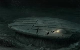 Bản mô phỏng vật thể kỳ lạ dưới đáy biển Baltic.
