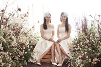 Á hậu Thuỵ Vân và bạn gái NSND Công Lý hóa cô dâu đẹp lộng lẫy Ảnh 1