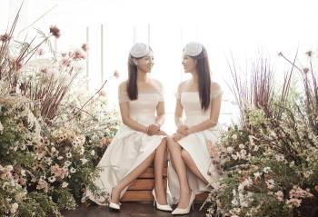 Á hậu Thuỵ Vân và bạn gái NSND Công Lý hóa cô dâu đẹp lộng lẫy Ảnh 2