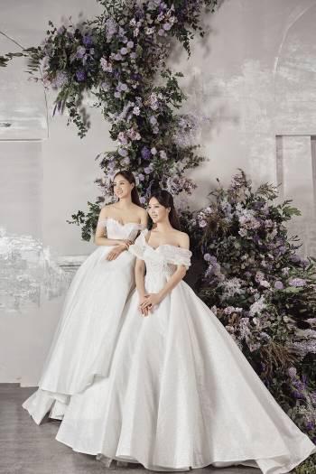 Á hậu Thuỵ Vân và bạn gái NSND Công Lý hóa cô dâu đẹp lộng lẫy Ảnh 6