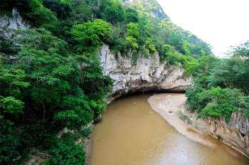 Tại Mường Hinh, lưu lượng trung bình năm 91 m3/s ứng với môđun dòng chảy năm 17,1 l/s.km2. Ảnh: Diem Dang Dung.