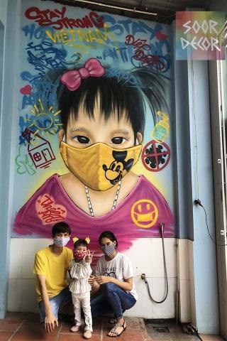 Chùm tác phẩm nghệ thuật Graffiti độc đáo với chủ đề Chung tay đánh bay COVID-19 - Ảnh 8.
