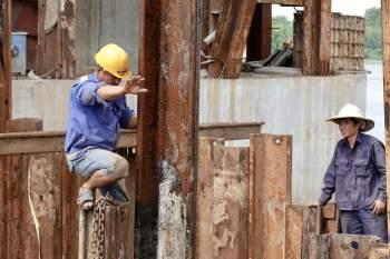Cận cảnh 'siêu' công trình cống thủy lợi lớn nhất Việt Nam 3.300 tỉ đồng - ảnh 12