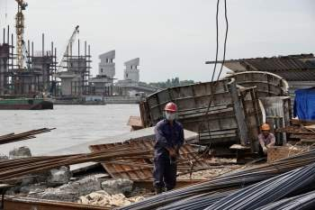 Cận cảnh 'siêu' công trình cống thủy lợi lớn nhất Việt Nam 3.300 tỉ đồng - ảnh 9