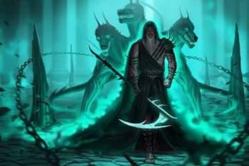 Tranh vẽ Hades.