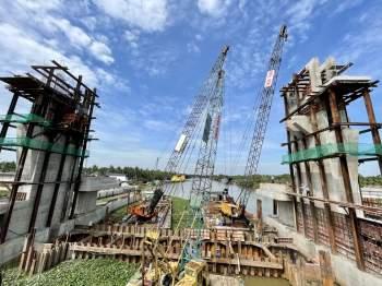 Cận cảnh 'siêu' công trình cống thủy lợi lớn nhất Việt Nam 3.300 tỉ đồng - ảnh 7