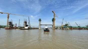 Cận cảnh 'siêu' công trình cống thủy lợi lớn nhất Việt Nam 3.300 tỉ đồng - ảnh 20