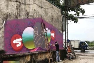 Chùm tác phẩm nghệ thuật Graffiti độc đáo với chủ đề Chung tay đánh bay COVID-19 - Ảnh 4.