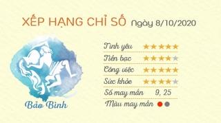 Tu vi 12 cung hoang dao - Tu vi ngay 8102020 - Bao Binh