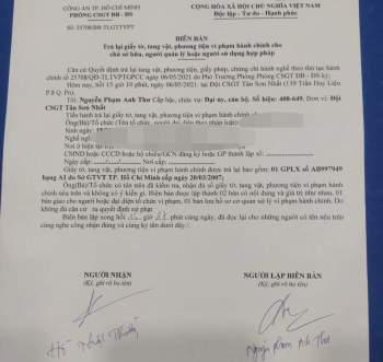 CSGT Tân Sơn Nhất xin lỗi, trả bằng lái cho người tố đại úy không chứng minh được lỗi - ảnh 2