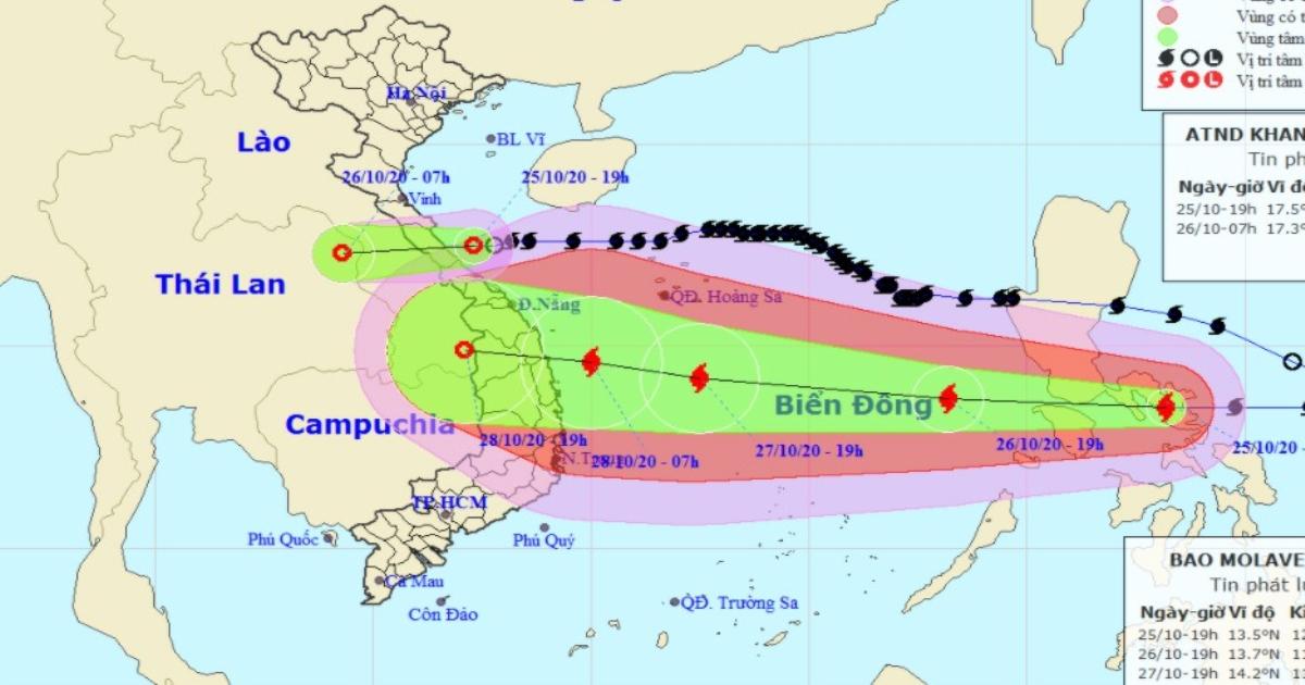 ATNĐ dội mưa xuống Nghệ An - Quảng Trị, bão giật cấp 14-15 sắp đổ bộ Biển Đông