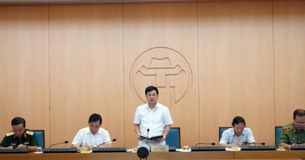 Không cử lãnh đạo đi họp phòng chống dịch, 6 quận huyện của Hà Nội bị phê bình