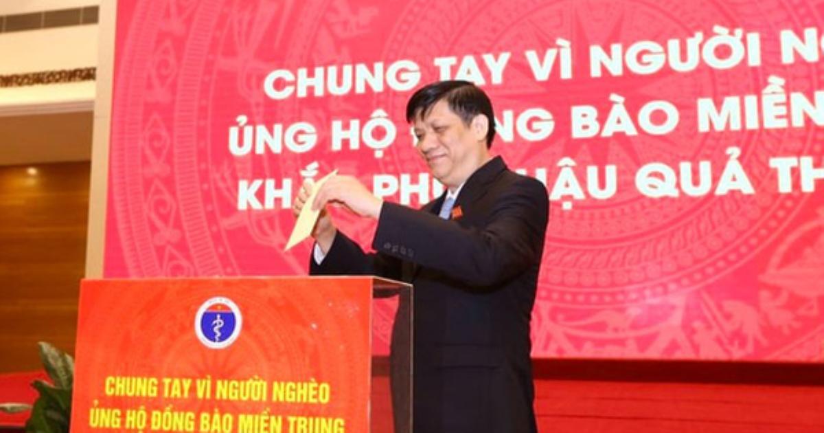 Bộ Y tế phát động ủng hộ đồng bào miền Trung khắc phục hậu quả thiên tai