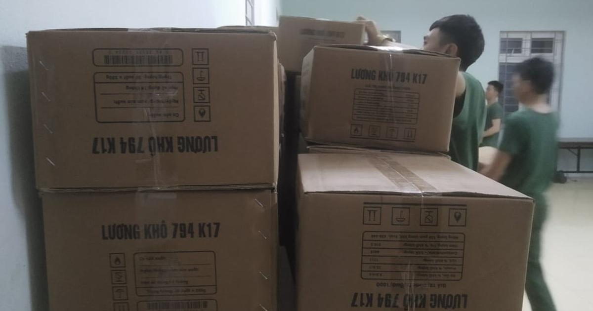 Lương khô quân đội đã về đến Quảng Trị