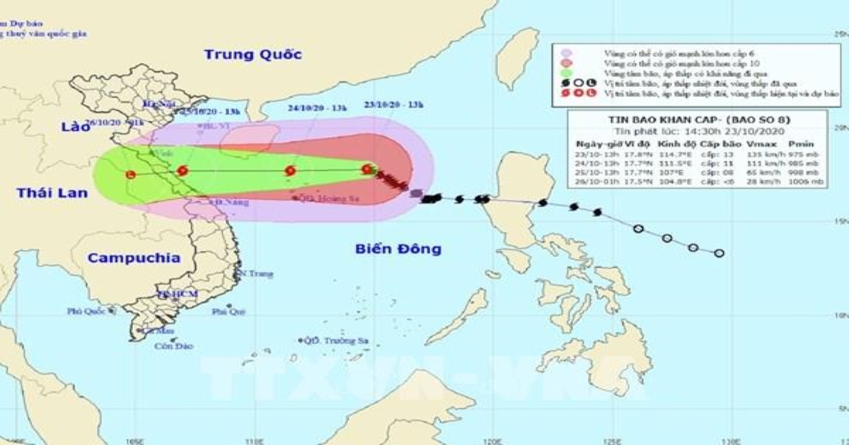 Dự báo thời tiết ngày mai 24/10: Nhiều vùng biển có mưa bão, nguy cơ lốc xoáy