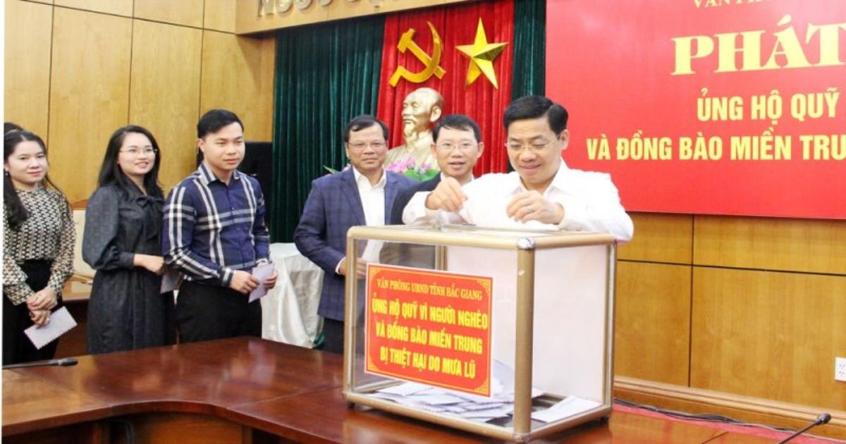 Bắc Giang phát động Tháng cao điểm vì người nghèo và ủng hộ đồng bào miền trung
