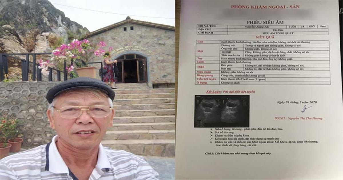 Chỉ 1 tháng điều trị, người đàn ông 58 tuổi giảm rõ rệt kích thước phì đại tiền liệt tuyến