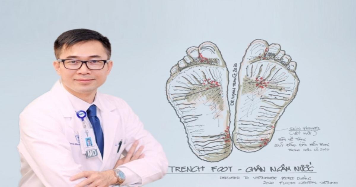 Bệnh chân ngập nước và nước ăn chân mùa lũ chữa trị thế nào?