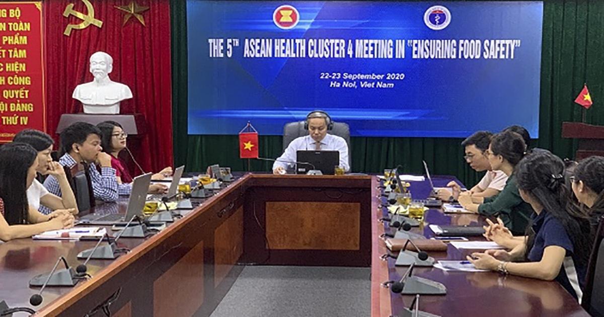 70 đại biểu ASEAN họp trực tuyến bàn về đảm bảo an toàn thực phẩm