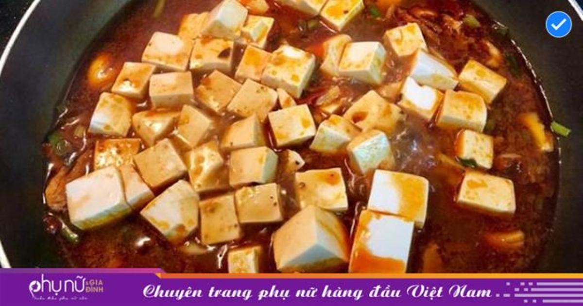 Hướng dẫn cách làm món đậu hũ Tứ Xuyên chi tiết ngon chuẩn vị