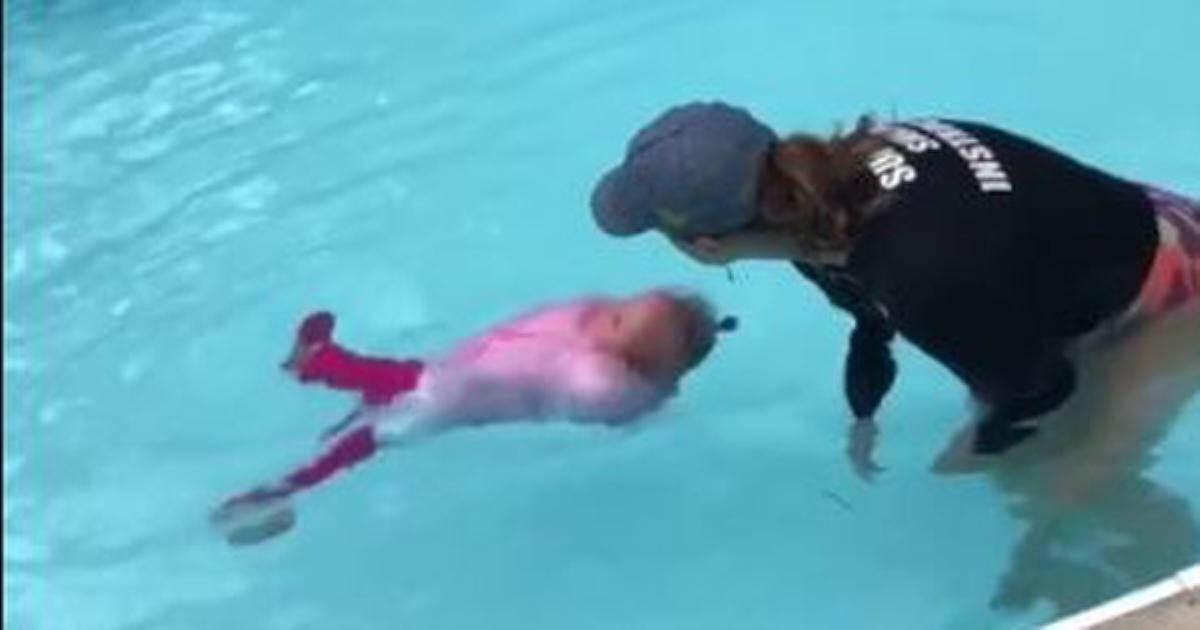 Cư dân mạng tranh cãi kịch liệt clip ném thẳng trẻ xuống nước để học bơi, mặc trẻ tự vùng vẫy, xoay xở không giúp đỡ