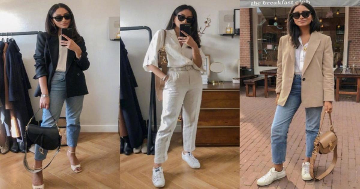9 set đồ tận dụng toàn đồ có sẵn mà ra outfit đến sở làm sang xịn hết sức