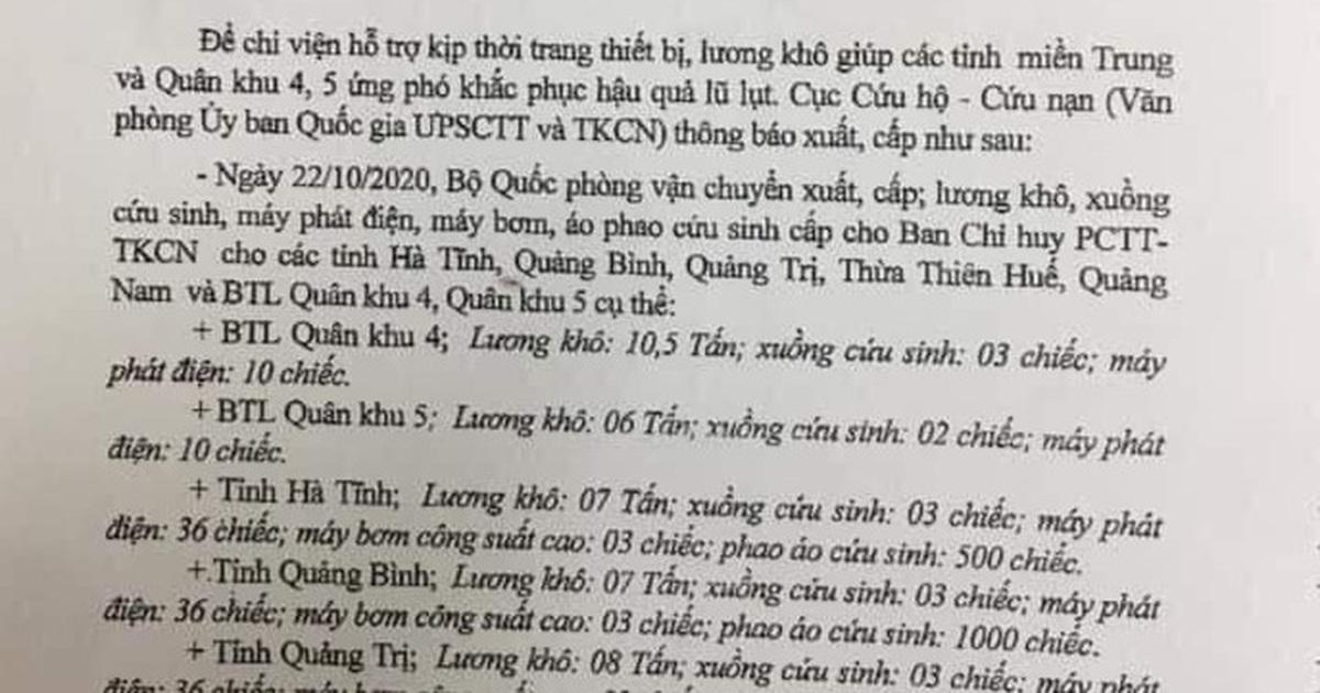 """Phó Chủ tịch Quảng Trị: """"Lương khô đã về đâu mà cán bộ chia nhau!?"""""""