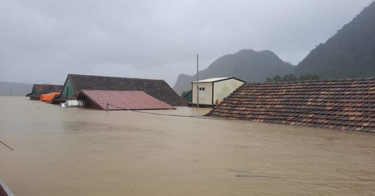 Các tỉnh Hà Tĩnh đến Quảng Trị tiếp tục mưa to