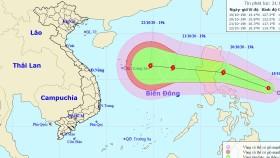 Ngày mai ATNĐ khả năng mạnh thành bão, tiến nhanh vào Biển Đông