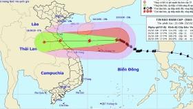 Bão hướng tâm vào Hà Tĩnh - Quảng Trị, Nghệ An - Thừa Thiên Huế lại mưa lớn