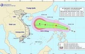 Áp thấp nhiệt đới mạnh cấp 7 gần Biển Đông và có khả năng mạnh thêm