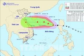 Dự báo thời tiết ngày 22/10, bão số 8 tăng cấp và hướng đi khó lường