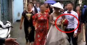 Chú rể say liêu xiêu trong đám cưới, rước dâu đi không vững khiến nhiều người ngao ngán