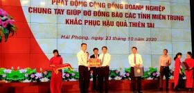 Hải Phòng: Phát động ủng hộ miền Trung gần 100 tỷ đồng