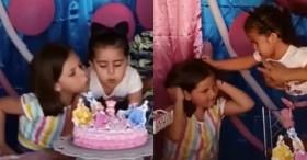 Clip 2 bé gái chí chóe tranh nhau thổi nến sinh nhật khiến dân tình cười nắc nẻ, đặc biệt hơn là loạt ảnh hậu trường tình chị em trước khi sứt mẻ