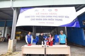 Nhật Bản hỗ trợ Thừa Thiên Huế 50 máy lọc nước và 250 tấm trải nhựa
