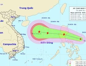 Áp thấp nhiệt đới khả năng thành bão hướng vào Biển Đông