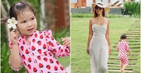 Gia đình siêu mẫu Hà Anh cùng nhau đi nghỉ dưỡng ở resort, bé Myla gây ngỡ ngàng vì chiều cao vượt trội, tóc dài thướt tha
