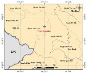 Mộc Châu – Sơn La tiếp tục có động đất trong ngày 3.8