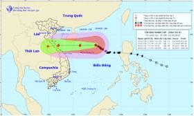 Bão số 8 tăng tốc, hướng vào Nghệ An - Quảng Trị